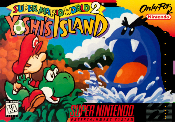 Super Mario World 2: Yoshi's Island Cover Artwork
