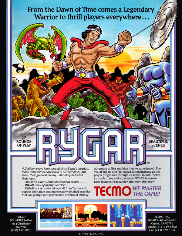 Rygar Cover Artwork
