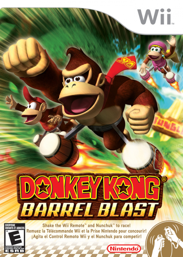 Donkey Kong Barrel Blast Cover Artwork