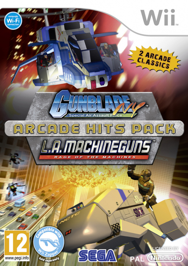 Gunblade NY and LA Machineguns Arcade Hits Pack Cover Artwork