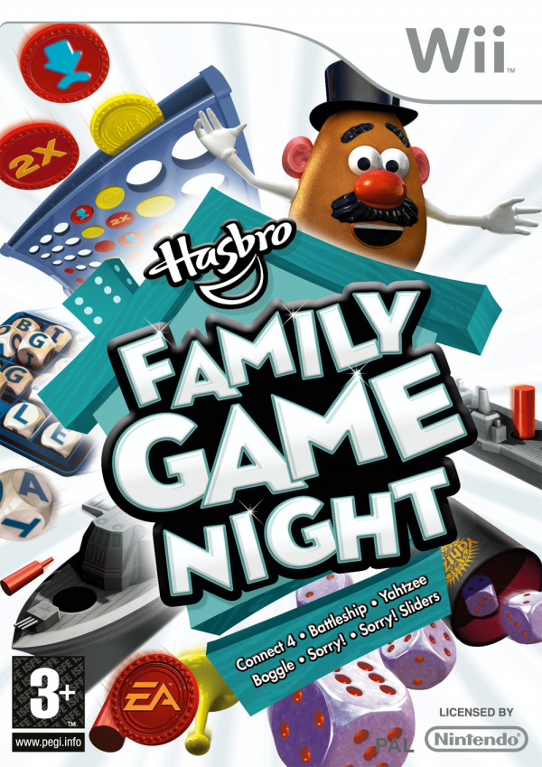 Hasbro Family Game Night Cover Artwork