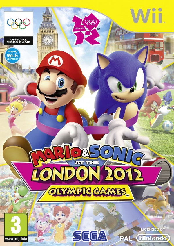 Mario & Sonic at the London 2012 Olympic Games Cover Artwork