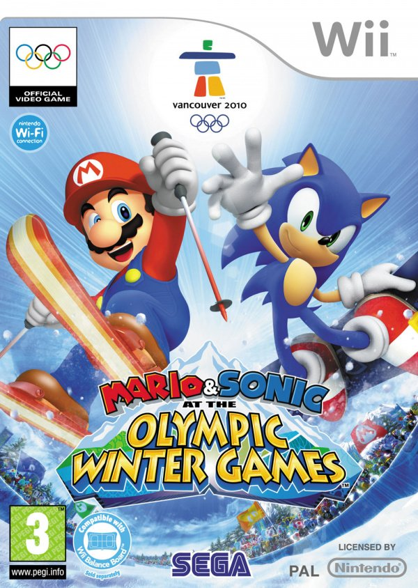 Mario & Sonic at the Olympic Winter Games Cover Artwork