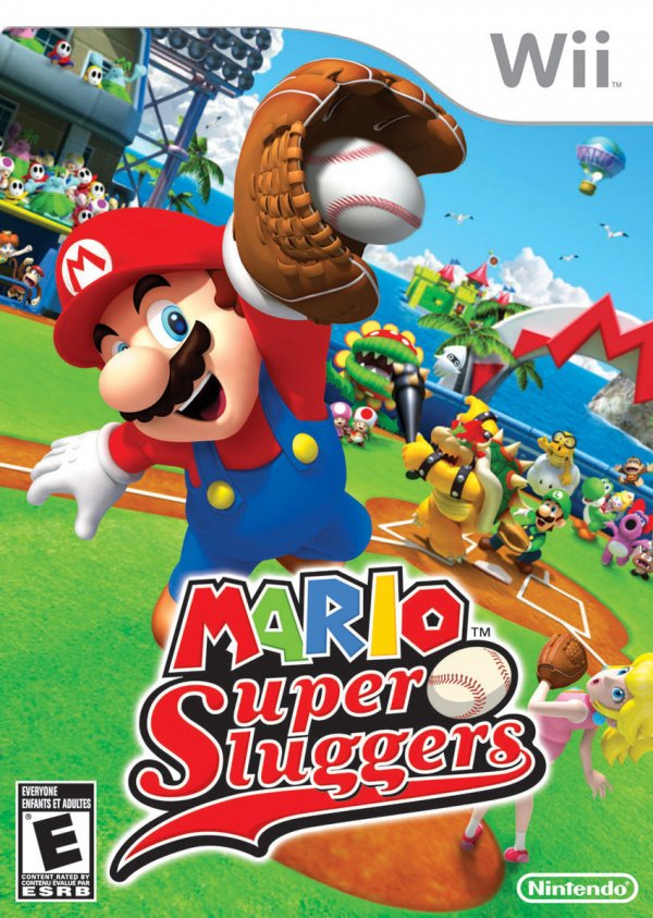 Mario Super Sluggers Cover Artwork