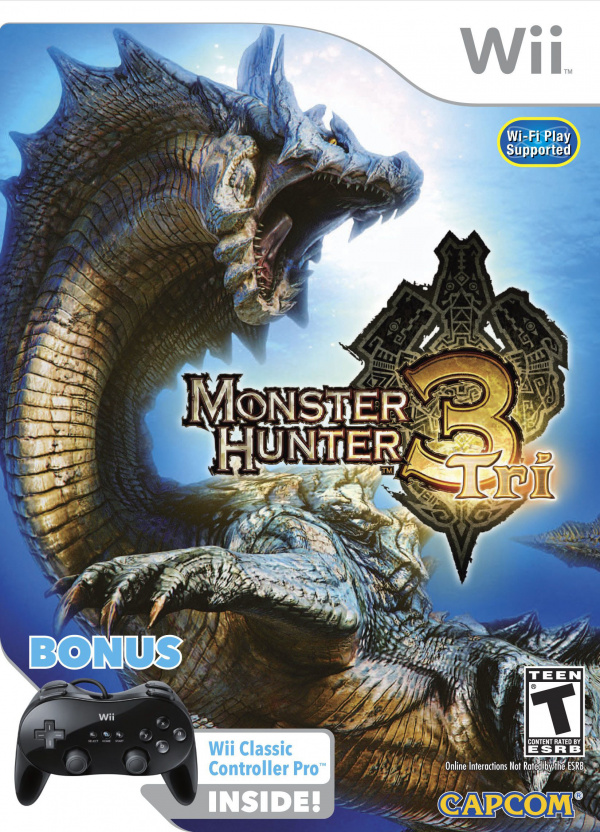 Monster Hunter 3 (Tri~) Cover Artwork