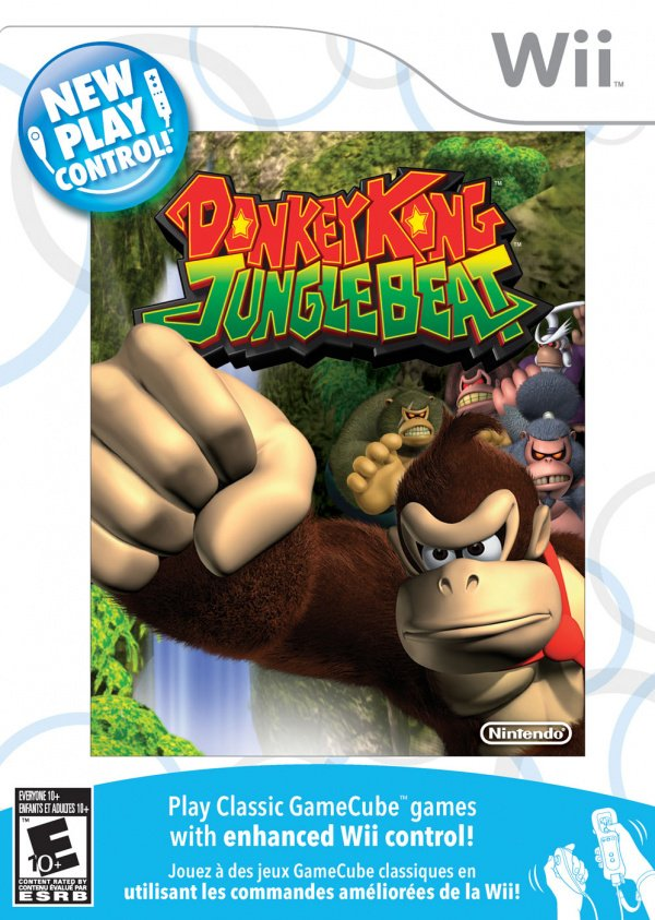 New Play Control! Donkey Kong Jungle Beat Cover Artwork