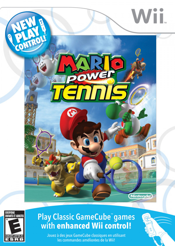 New Play Control! Mario Power Tennis Cover Artwork