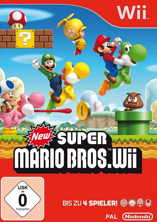 New Super Mario Bros. Wii Cover Artwork