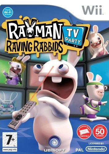 Rayman Raving Rabbids TV Party Cover Artwork