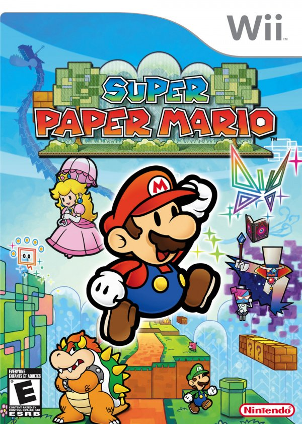 Super Paper Mario Cover Artwork