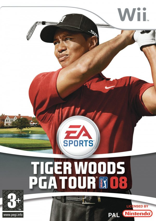 Tiger Woods PGA Tour 08 Cover Artwork