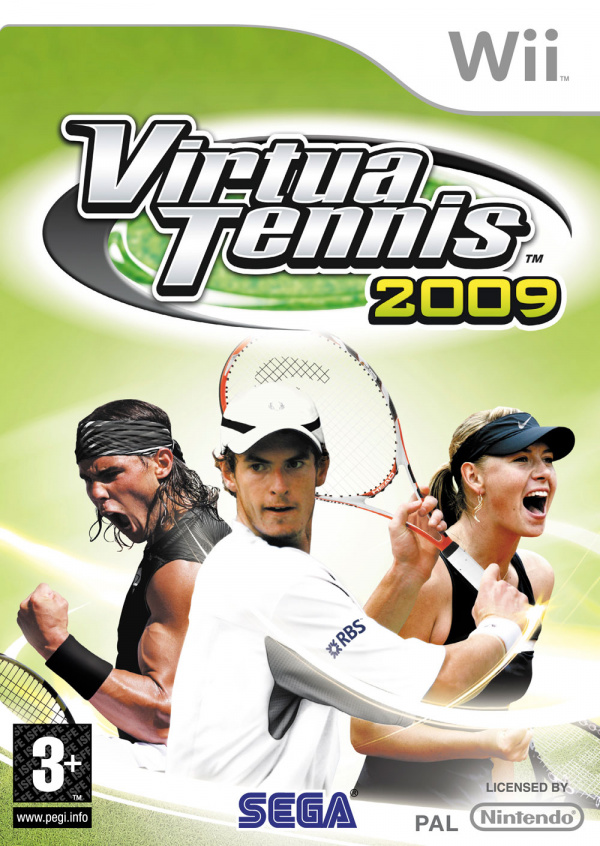 Virtua Tennis 2009 Cover Artwork