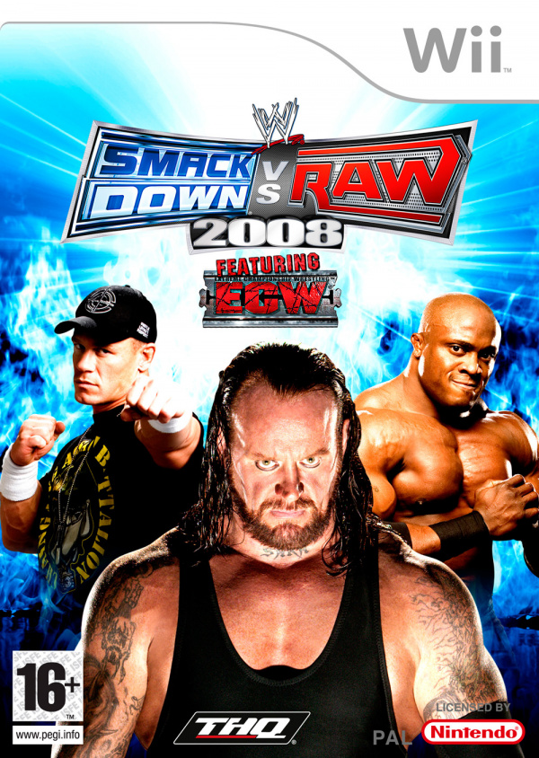 WWE Smackdown! vs RAW 2008 Cover Artwork