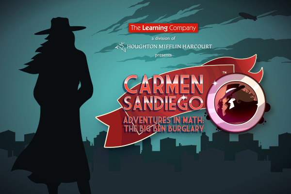 Carmen Sandiego Adventures in Math: The Big Ben Burglary Cover Artwork