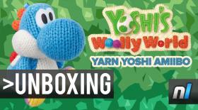 Yoshi's Woolly World Yarn Yoshi amiibo Unboxing & Gameplay
