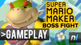 Super Mario Maker: Forced Boss Battle & Hidden Items - Bowser Jr. Grows Up