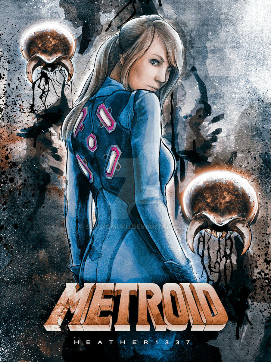 Heather1337 Metroid Samus Cosplay Painting