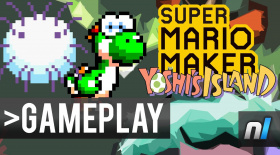 Super Mario Maker: Yoshi's Island Recreation - Touch Mushy Get Dizzy