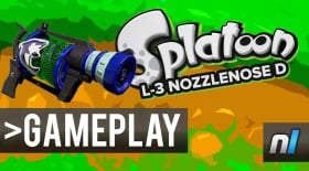 Splatoon: L-3 Nozzlenose D Gameplay 60fps - NEW WEAPON