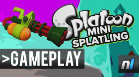 Splatoon: Mini Splatling I Gameplay 60fps - NEW WEAPON: