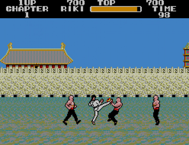 The Western version of Fist of the North Star - Black Belt - The first Master System game (In Japan, at least)!