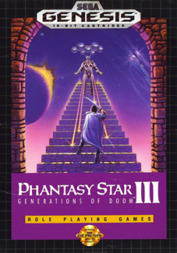 Phantasy Star III - If you just want a good RPG, we recommend waiting for the upcoming Phantasy Star IV, which is sublime.