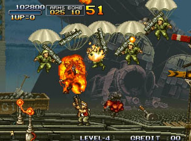 Metal Slug has some of the best 2D graphics ever seen.