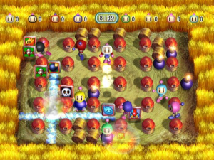 More explosive action from Bomberman