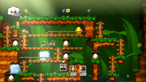 If you like puzzlers you'll love Toki Tori.