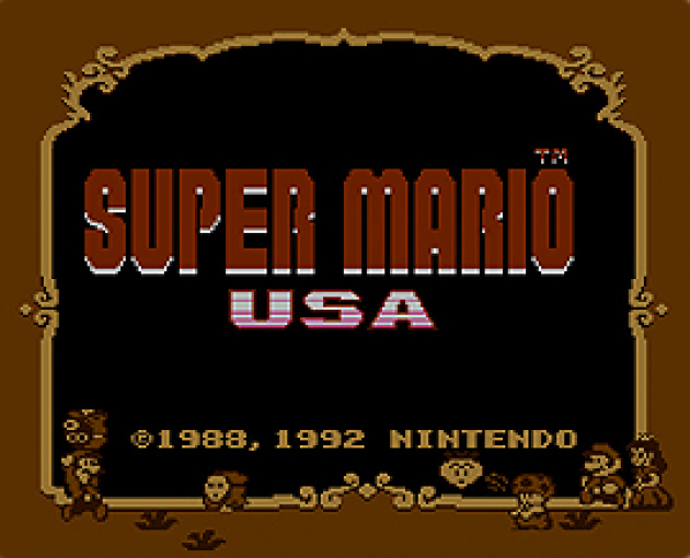 Super Mario USA is the Japanese release of Super Mario Bros. 2