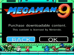 The Mega Man 9 shop is not yet open for business!