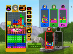 Online Tetris action in Tetris Party