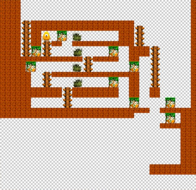 An old, very basic build of a level included in Toki Tori