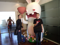 The very impressive Rabbids statue. Rabbids-style expression compulsory.