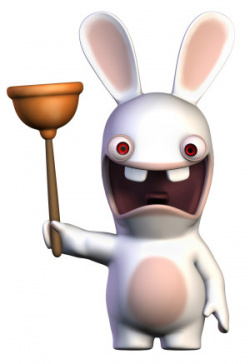 Naughty rabbid.
