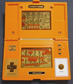 Is that an orange DS? No, it's Donkey Kong Game & Watch!