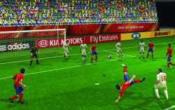 Shake the Wii Remote to take a shot at goal