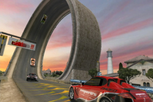 You won't have to keep picking up the cars and putting them back on the tracks with this game