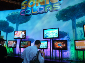 Sonic Colors on display