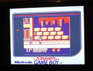 As well as playing NES, SNES and Genesis games, the Retron3 can also play GB titles - via the Super Game Boy, of course