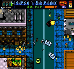 Retro Theftendo screenshot - every criminal needs a shotgun
