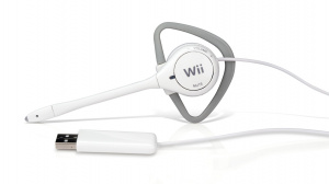 The Headbanger Wii Headset in all its white glory