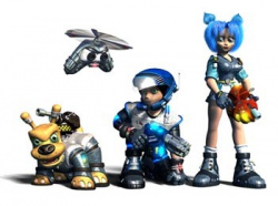 The cast of Jet Force Gemini pose for the obligatory team photo