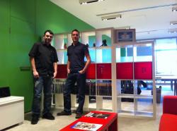 Our man with Nic Watt, Creative Director of Nnooo!