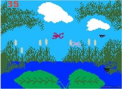 It's a bird. It's a plane. Oh, it's just a frog...