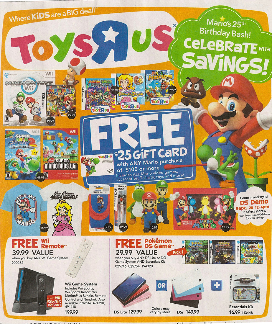 May The Fourth Be With You Toys R Us: Classic Mario DS Games Get Reprints At Toys 'R' Us