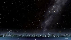 """Like a shooting star across the midnight sky"""