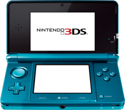 A 3DS with screen protectors on