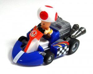 Tomy Toad pull back racer: DO WANT.