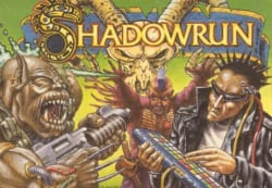 Shadowrun's PAL boxart in all its lurid glory